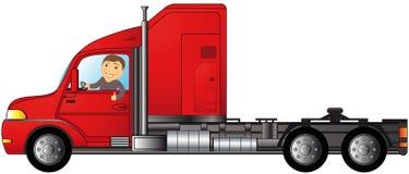 Lastbil med mannen som visar upp tumen Royaltyfri Fotografi