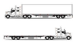 Lastbil med släpet Royaltyfri Bild