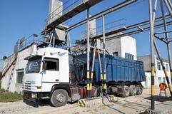 Lastbil och laboratorium av Sugar Raw Royaltyfri Bild