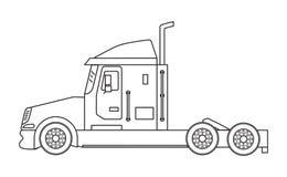 Lastbil på en vit bakgrund Fotografering för Bildbyråer