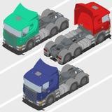Lastbil utan släpet för isometrisk värld Arkivbild