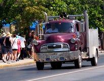 Lastbilar av den Varadero Kuban Royaltyfri Fotografi