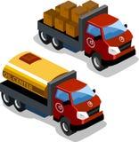 lastbilar två Arkivfoton