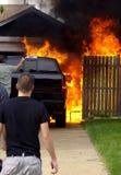 Lastbilbrand Arkivbild