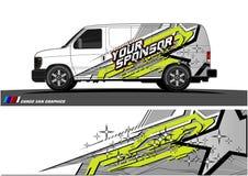 Lastbildiagram Medel som springer bandbakgrund stock illustrationer