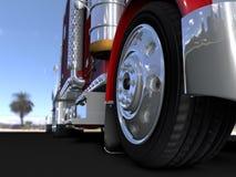 Lastbilen Fotografering för Bildbyråer