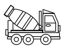 Lastbilen lurar bildande färgläggningsidor Arkivbilder