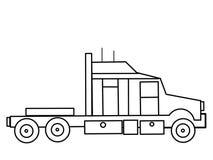 Lastbilen lurar bildande färgläggningsidor Royaltyfria Bilder