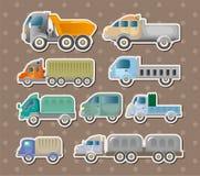 Lastbiletiketter vektor illustrationer