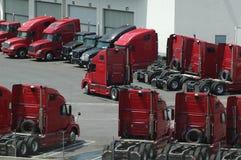 lastbilgård Arkivbilder