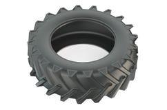 Lastbilgummihjul eller traktordäckcloseup Royaltyfri Bild