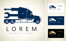 Lastbillogo Fotografering för Bildbyråer