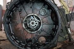 Lastbilmotorn royaltyfri foto