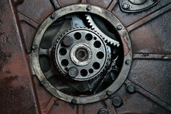 Lastbilmotorn arkivfoto
