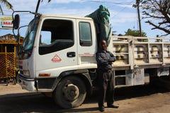Lastbilsförare mombasa Arkivfoto