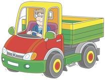 Lastbilsförareridning vektor illustrationer