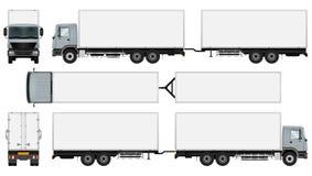 Lastbilsläpmall vektor illustrationer