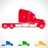 Lastbilsymbolvektor Frakttrans. Arkivbild