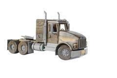 Lastbiltraktor på vit Arkivbild