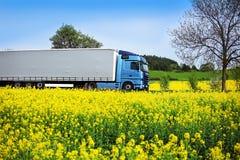 Lastbiltransport på vägen royaltyfri foto