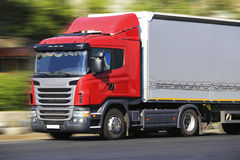 Lastbiltransportfrakter Royaltyfria Bilder