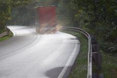 Lastbilväg fotografering för bildbyråer