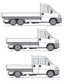 lastbilvektor vektor illustrationer