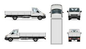 Lastbilvektorillustration stock illustrationer