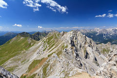 Lastei ridge and Selle pass Stock Images