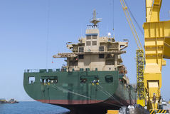 lastfartyg Fotografering för Bildbyråer
