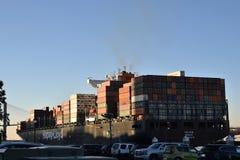 Lastfartyg i Savannahhamn fotografering för bildbyråer