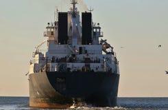 Lastfartyg i stora partier Arkivbild