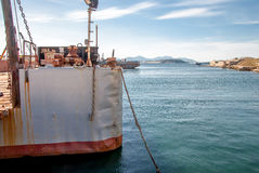 Lastfartyg i stora partier Royaltyfria Foton