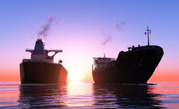 Lastfartyg två vektor illustrationer