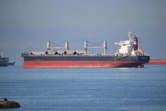 LastfartygFurness St Kilda Anchored i Vancouver, Kanada Arkivfoto