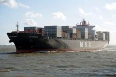LastfartygMSC-margarita Arkivbilder