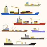 Lastfartygsidosikt Arkivfoto