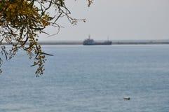 Lastfartygtrans. fotografering för bildbyråer