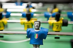 �lastic football player Stock Images