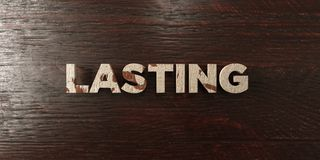 Lasting - grungy wooden headline on Maple  - 3D rendered royalty free stock image Stock Photos