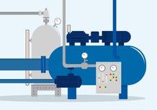 Lastlagringskomplex, behållare vektor illustrationer