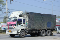 Lastlastbil av SL-transport Fotografering för Bildbyråer
