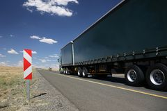 Lastlastbil eller lastbil Arkivbild