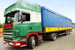 Lastlastbil som är klar för transport Royaltyfri Bild
