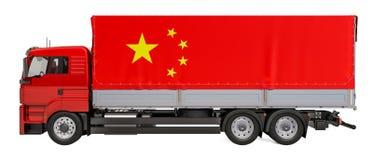 Lastleverans i det Kina begreppet, tolkning 3D vektor illustrationer
