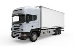 Lastleveransen åker lastbil isolerat på vitbakgrund vektor illustrationer