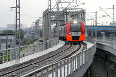 Lastochka commuter train. Moscow Central Circle Line. Royalty Free Stock Images