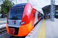 Lastochka electric train from Sochi to ski resort Rosa Khutor Stock Photo