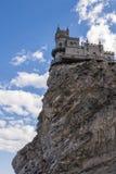 Lastochkino gnezdo. Small castle on the cliff top stock photos