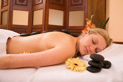 Lastone massage royalty free stock image